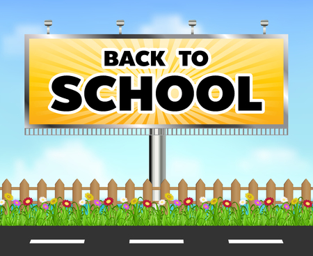 A back to school billboard side of the road