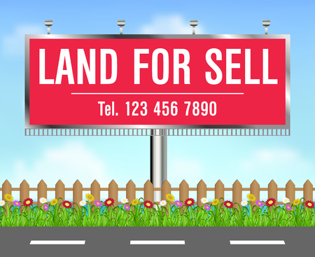 land for sale billboard side of roard