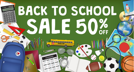 Back to school sale banner template design