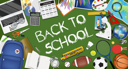 Back to school poster template design