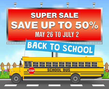 Back to school sale template design