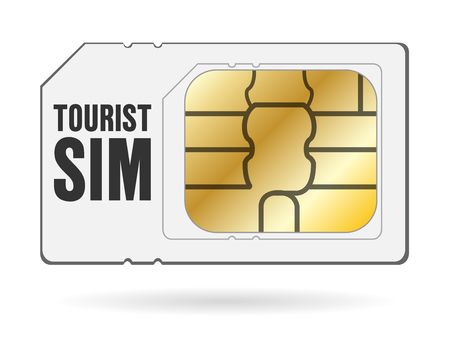 global travel tourist internet smartphone sim card stock vector 100188892 - Global Travel Card