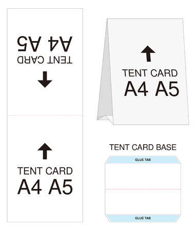 tent card A4 A5 size  mock up die-cut