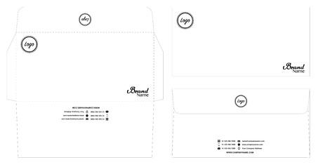 weißes Umschlagschablonenmodell mit Dieline