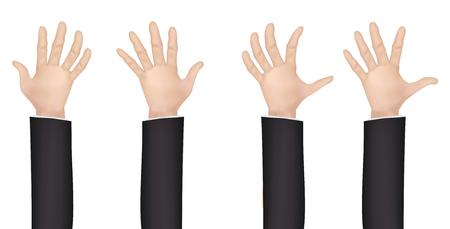 real human male man hand vector set
