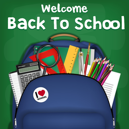 student backpack back to school sale promotion Illustration