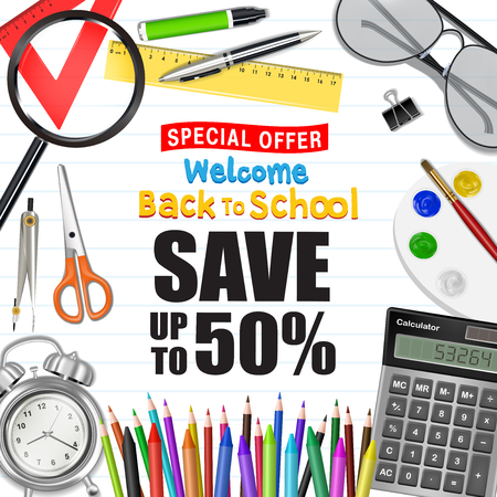 back to school sale promotion poster
