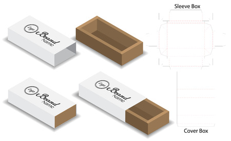 slide box die cut mock up template vector 版權商用圖片 - 108890867