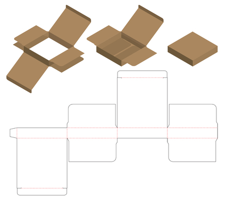 Box packaging die cut template design. 3d mock-up Stock Vector - 108890963