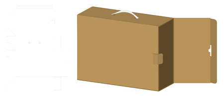 packaging box 3d mockup with dieline template Stock Vector - 108890968