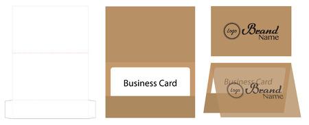 business card envelope die-cut template mock up Stock Vector - 108890969