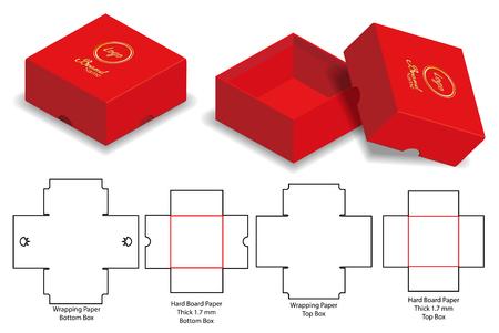 Box packaging die cut template design. 3d mock-up Stock Vector - 108890973