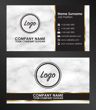sample business name card template vector Illustration