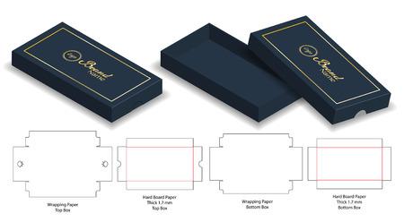 Box packaging die cut template design. 3d mock-up Stock Vector - 108890984