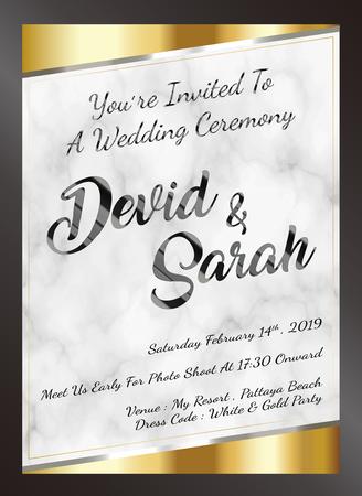 sample wedding card invitation template vector eps Stock Vector - 108890988