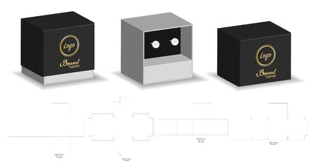 Rigid Sleeve box die cut mock up template vector Stock Vector - 108890995