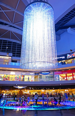 SINGAPORE, 14 October 2018 : Shopping mall at Marina Bay Sands Resort in Singapore. one of Singapores largest luxury s expensive brand shopping malls