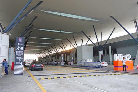 Malaysia - Kuala Lumpur - 16 November  2018: Front of KLIA2 Or Airport Kuala Lumpur International Airport (KLIA) of Malaysia KLIA2 is major airports in South East Asia Editorial