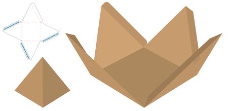 Box Verpackung gestanzte Vorlage Design. 3D-Modell