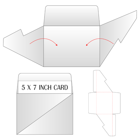 Envelope die cut mock up template Vector illustration. Ilustrace