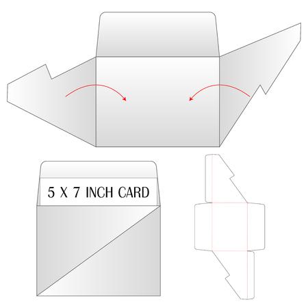 Envelope die cut mock up template Vector illustration. Illustration