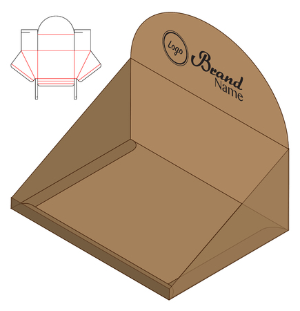 Box packaging die cut template design. 3d mock-up Ilustração