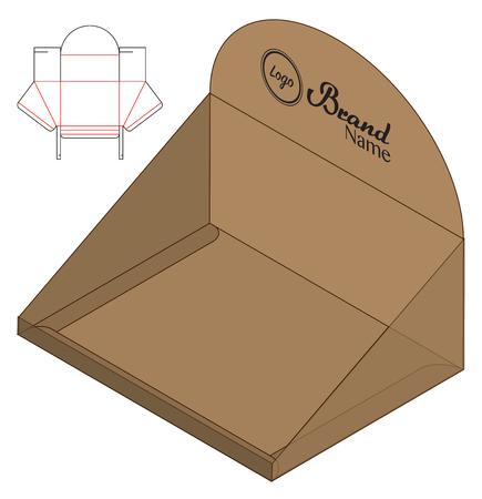 Gestanztes Vorlagendesign für Schachtelverpackungen. 3D-Modell