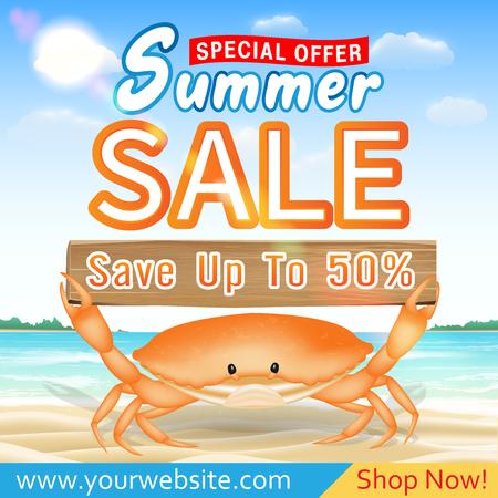 summer sale special offer deal promotion poster