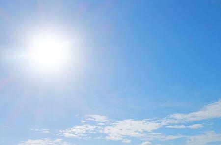 a bright sky with a cloud background Stok Fotoğraf