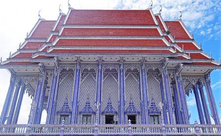 blue temple at Wat Paknam khaem Nu,Chanthaburi Province,Thailand
