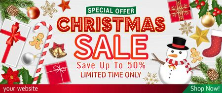 Merry Chrismast sale with Object Top View poster