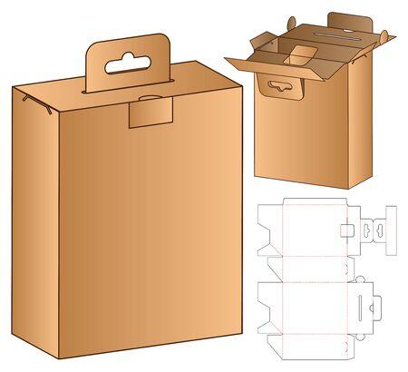 Box packaging die cut template design. 3d mock-up Ilustração