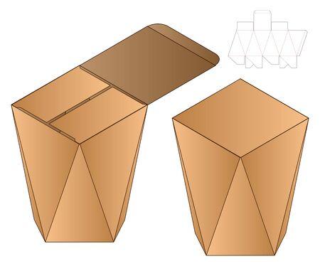 Box packaging die cut template design. 3d mock-up Stock fotó - 138389032