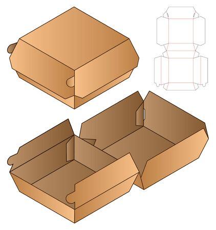Box packaging die cut template design. 3d mock-up Stock fotó - 138388993