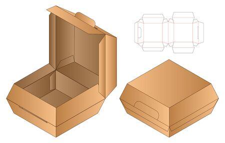 Box packaging die cut template design. 3d mock-up Stock fotó - 138388868