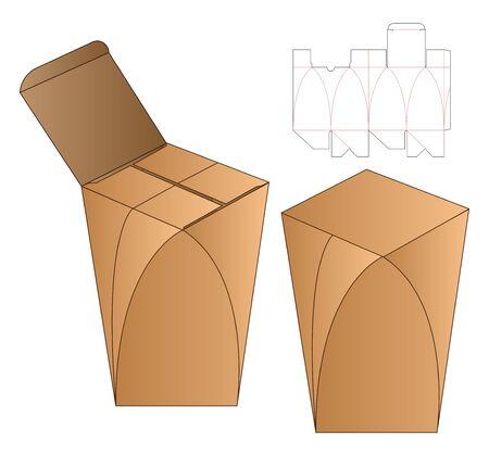 Box packaging die cut template design. 3d mock-up Stock fotó - 138388877