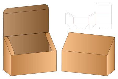 Box packaging die cut template design. 3d mock-up Zdjęcie Seryjne - 139164176