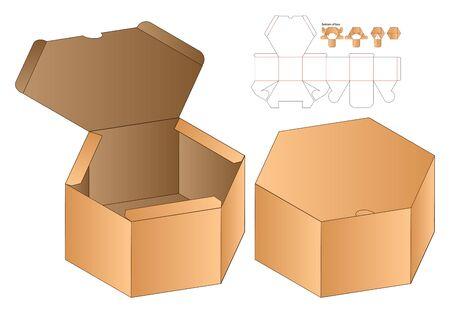 Box packaging die cut template design. 3d mock-up Zdjęcie Seryjne - 139164382