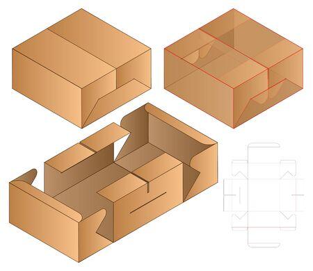 Box packaging die cut template design. 3d mock-up Zdjęcie Seryjne - 140176920