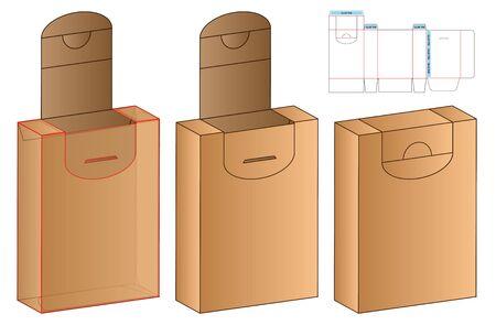 Box packaging die cut template design. 3d mock-up Zdjęcie Seryjne - 140176943