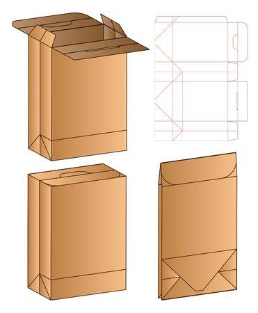 Box packaging die cut template design. 3d mock-up Zdjęcie Seryjne - 140176906