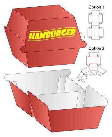 Box packaging die cut template design. 3d mock-up