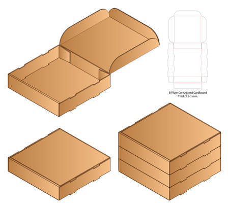 Box packaging die cut template design. 3d mock-up Stockfoto - 151111336
