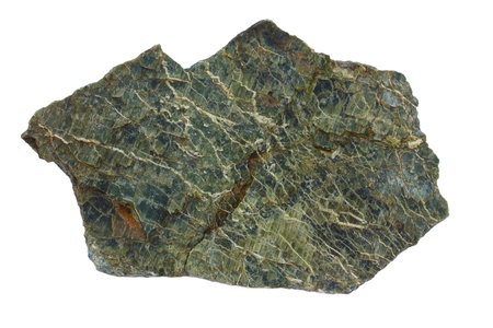 Serpentinite is a metamorphic rock type  It is hydrothermally altered  serpentinized  part of a former Earth Stock Photo - 20363250