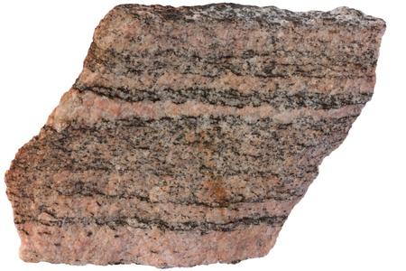 banding: Gneiss from Karelia  Stock Photo
