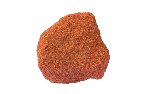timna: Strongly cemented sandstone with a red rematitic cement from the Negev Desert, Israel.  Stock Photo