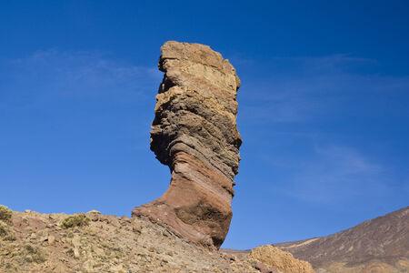 vicinity: Roque Cinchado is a volcano-sedimentary erosional remnant in the vicinity of El Teide in Tenerife Stock Photo