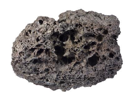 vesicular stone: Scoria (very vesicular basaltic rock) from Tenerife. Width of sample 7 cm.