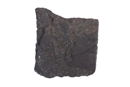 carbonaceous: Boghead is a type of oil shale. Width of sample 5 cm.