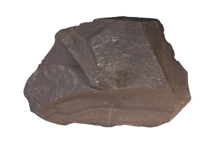 shale: Shale contains organic matter (oil shale). The sample is from Russia. Width of the sample is 10 cm. Stock Photo